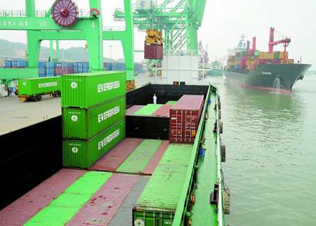 汕头广澳—香港集装箱班轮航线首航